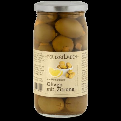 DER DORFLADEN Oliven gruen Chalkidiki-Oliven mit Zitrone